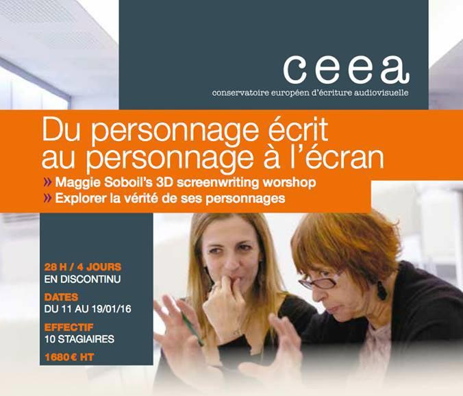 Stage de réécriture de scénario au CCEA à Paris