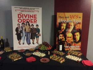 Le buffet lors de la projection du film Divine order