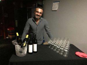 Le buffet, les vins du Valais pendant lors de la projection du film Divine order