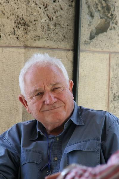 Le consultant David Seidler au milieu d'une session