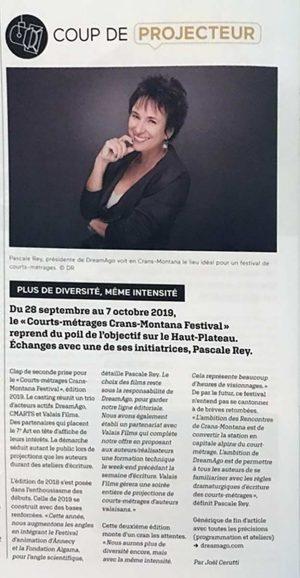 Courts-métrages Crans Montana Festival 2019