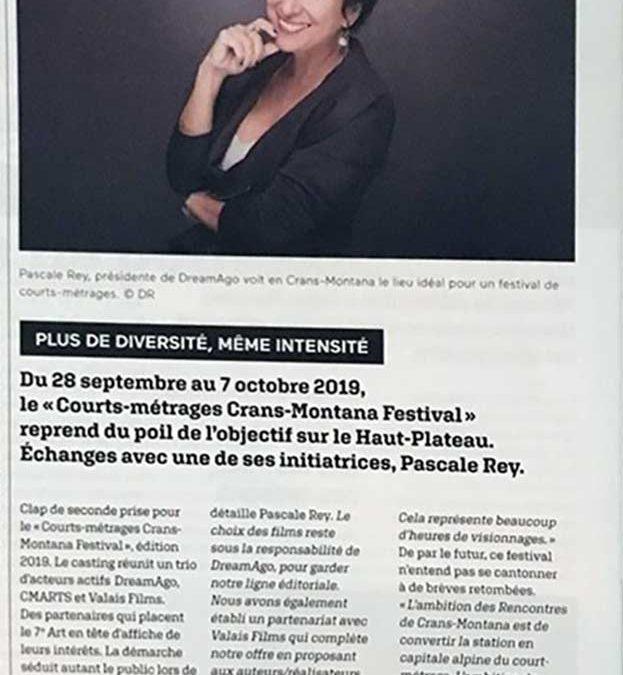 Atelier-Festival de courts-métrages à Crans Montana octobre 2019